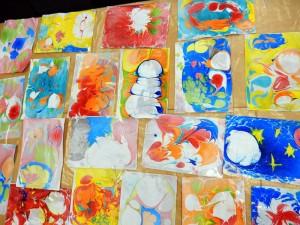 Рисуем красками по воде 1